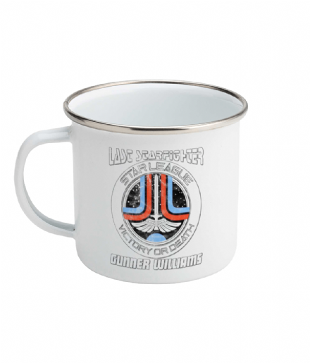 Personalised Gunner Enamel Mug Inspired by Starfighter Star League